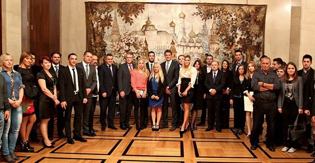 Участники Универсиады-2013 в Посольстве России