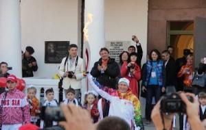 Курск принимает эстафету Олимпийского огня