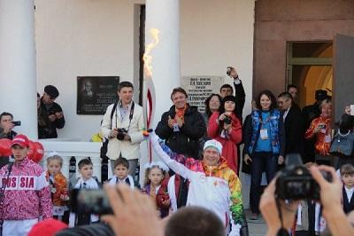 Лица эстафеты Олимпийского огня