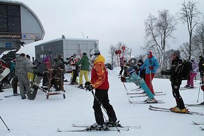 В сочинской Красной Поляне официально стартовал горнолыжный сезон