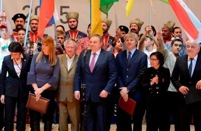 Торжественная церемония открытия первых Всемирных игр юных соотечественников